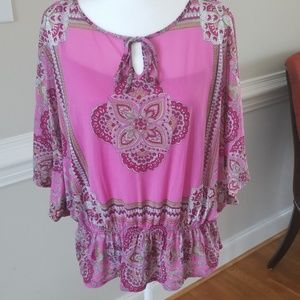 Beautiful Pink designed top with attached tank